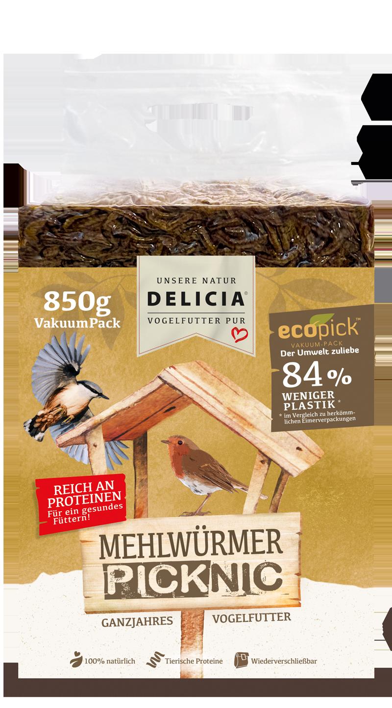 Delicia Mehlwürmer Picknic 850 g