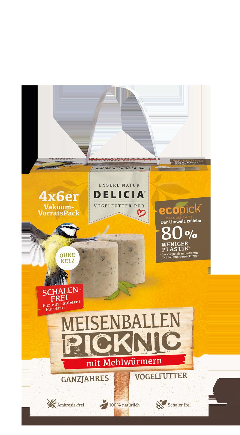 Delicia MeisenBallen Picknic ohne Netz 24er