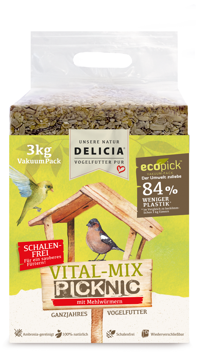 Delicia VitalMix-Picknic mit Mehlwürmern 3 kg